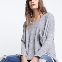 Oversized Gray Knitted Sweater