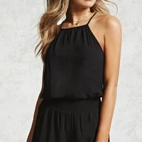 High Neck Cami Romper