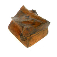 "Natural Teak Wood Rustic Driftwood Box Reclaimed Handmade wooden box Home Art Decor / Zen Art / Gift 5""X4.3""X3.5"""