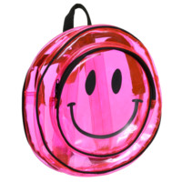 CLEAR PINK SMILEY BACKPACK