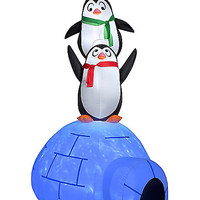 3.5 Ft Penguin Igloo Party Inflatable - Spirithalloween.com