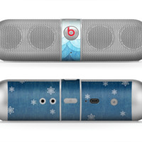 The Snowy Blue Paper Scene Skin for the Beats by Dre Pill Bluetooth Speaker