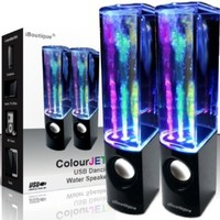 iBoutique® ColourJets USB Dancing Water Speakers (Jet Black) - for PC, Mac, MP3 Players, Mobile Phones inc. iPhone & Tablets