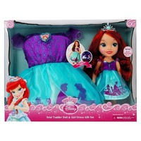 Disney Princess Ariel Toddler Doll & Girl Dress Gift Set