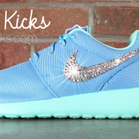 Nike Roshe One Customized by Glitter Kicks - Light Blue/White