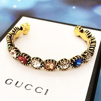 GUCCI Fashion New Multicolor Diamond Bracelet Women