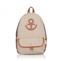 ZLYC Preppy Look Cotton Anchor Printed Backpack
