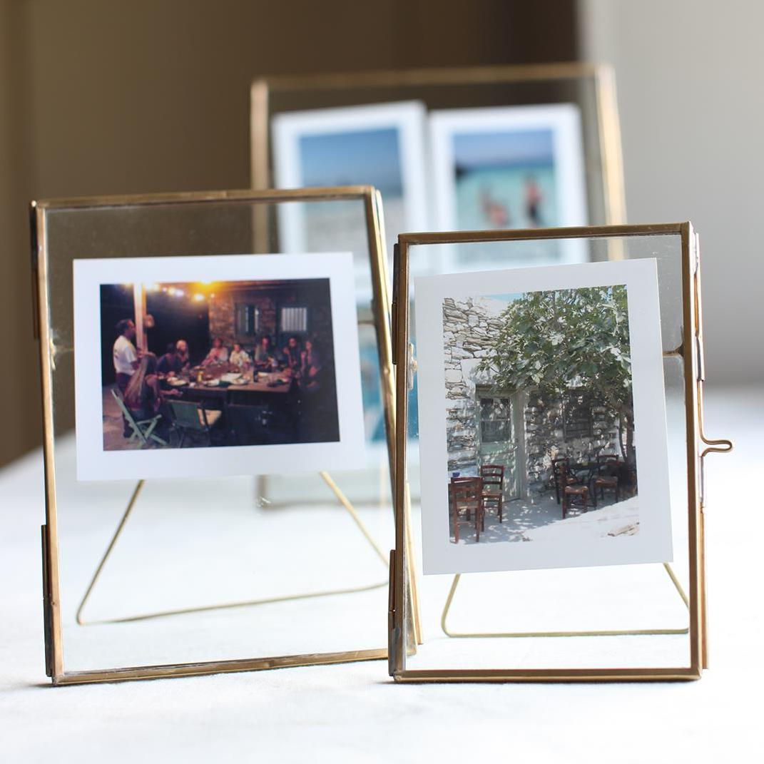 Image of Antique Brass Recycled Glass Picture Frame