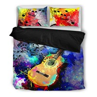 Artistic Guitar Bedding Set