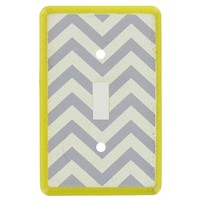 Yellow, White & Gray Chevron Single Switch Plate | Shop Hobby Lobby