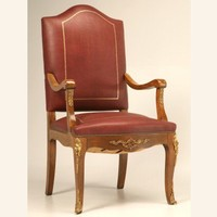 Vintage French Louis XV Style Throne or Desk Chair