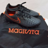 Nike Magista Opus II FG  Black Total Crimson Soccer Cleats 843813 008 Size 8.5