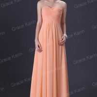 Plus Size Long Chiffon Bridesmaid Evening Prom Formal Wedding Gown Party Dress