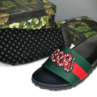 Gucci Casual Fashion men and women Sandal Slipper Shoes