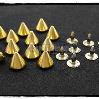 20pcs 6.5mm Silver Cone SPIKES RIV.. on Luulla