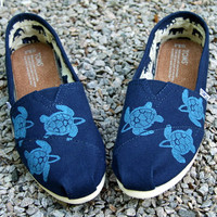 Sea Turtle Custom TOMS Shoes by themattbutler on Etsy