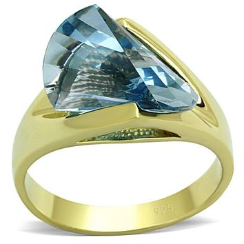 Gold Plated Rings LOS653 Gold 925 Sterling Silver Ring with Synthetic