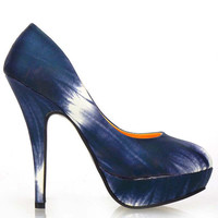 LF30414 New Womens y Two Tone Tie Dye Stiletto Platform High Heel Pumps Court Shoes Alternative Measures