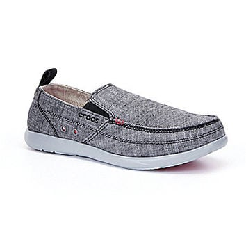 Crocs Men's Walu Chambray Shoes - Charcoal/Light Grey