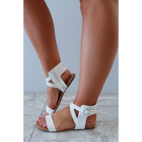 Simply Daring Sandals: White/Silver