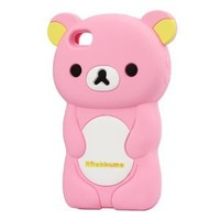 Adorable Rilakkuma Soft Silicone Case for Iphone 4 4s
