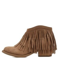 Sand Flat Fringe Ankle Booties by Charlotte Russe
