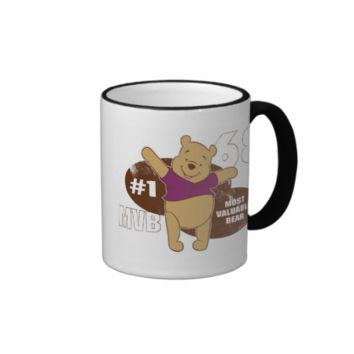 Winnie the Pooh Most Valuable Bear Logo Ringer Coffee Mug