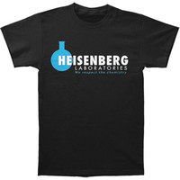 Breaking Bad Men's  Heisenberg Labs Slim Fit T-shirt Black Rockabilia