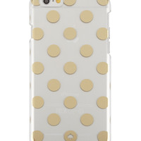 le pavillion polka-dot resin iPhone 6 case, clear/gold - kate spade new york - Clear/Gold