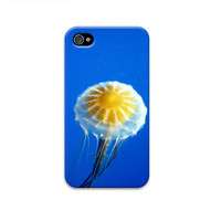 Jellyfish iphone cover,  ocean iphone case, blue iphone case, iphone 4 case,  iphone 4s, iphone 3gs ,unique iphone 4 cases