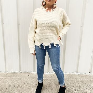 Knit Me Up Sweater in Ivory