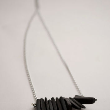 Black Coco Shell Sticks Necklace