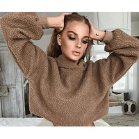 fhotwinter19 Explosive fashion hooded long-sleeved comfortable warm top