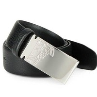 CHEN1ER Versace Collection Medusa Men's Leather Belt