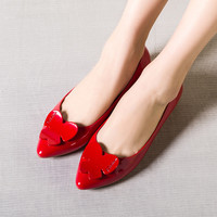 Summer Pointed Toe Decoration Casual Flat Shoes [4919959236]