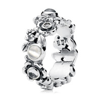 Pandora Nature's Serenity with Blue Topaz & Moonstone Ring