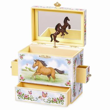 Childrens Horse Wild & Free Musical Jewelry Box