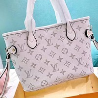 LV New fashion monogram print leather shoulder bag handbag crossbody bag White
