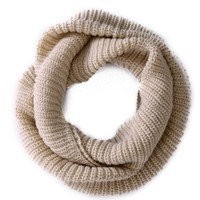 HDE Women's Pashmina Blend Chunky Ribbed Knit Winter Infinity Circle Scarf Cowl
