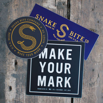 Snake Bite Sticker Pack
