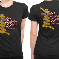 ESBGW7 Panic At The Disco Hallelujah All You Sinners Stand Up 2 Sided Womens T Shirt
