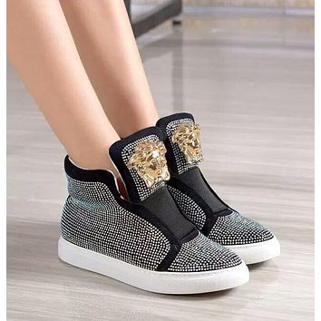 shosouvenir Versace  Sneakers with high help shoes