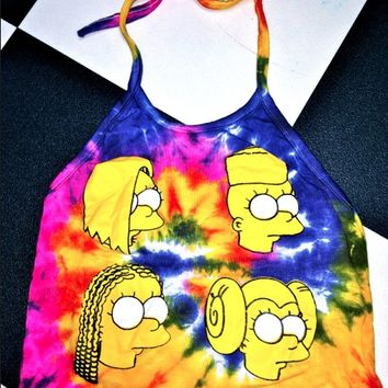 SWEET LORD O'MIGHTY! BADBITCHEZ' WEAVEZ TIEDYE HALTER