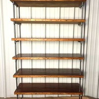 Industrial Pipe Shelving with Antique Reclaimed Wood
