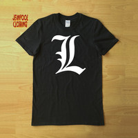 Death Note Anime Series 'L' Inspired T-Shirt - Available in Men's and Women's