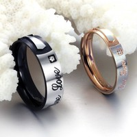 Korean Accessory Strong Character Titanium Jewelry [11676773583]