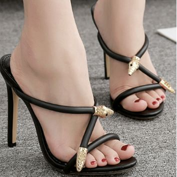 Explosive hot sale fashionable rhinestone all-match high heels