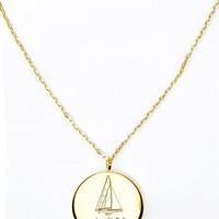 Gold Monogram Pendant – Kiel James Patrick