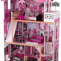 Amelia Dollhouse Girl Pink Children Dollhouse Furniture Toys Gift New Free Ship