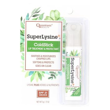Quantum Super Lysine And Cold Stick Tube Lip Protector And Cold Sore Treatment - 0.18 Oz